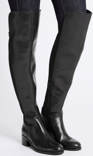 Marks And Spencer Leather Block Heel Over The Knee Boots 2