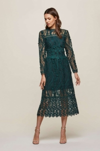 Miss Selfridge PREMIUM Lace Midi Shift Dress