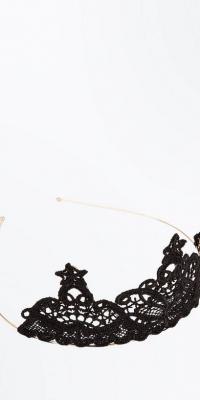 New Look Black Lace Tiara