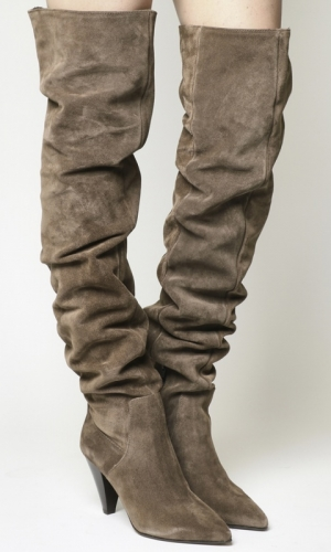 Office Kone Slouch Over The Knee Boots Taupe