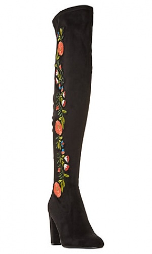 Steve Madden Envoke Embroidered Over The Knee Boots