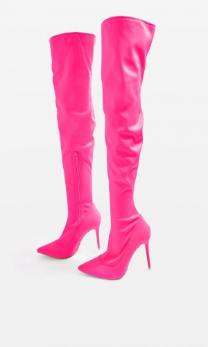 Topshop BELLINI High Heel Point Stretchy Boots