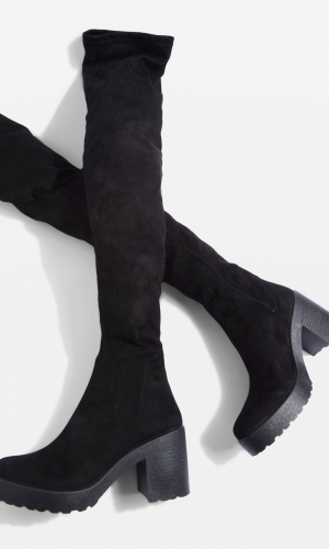 Topshop CACTUS Micro Knee Boots