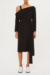 Topshop Off Shoulder Drape Dress