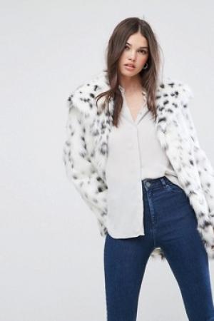 ASOS Faux Fur Jacket In Snow Leopard