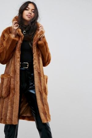 ASOS Faux Fur Midi Coat
