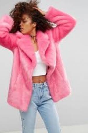 ASOS Pink Faux Fur Coat