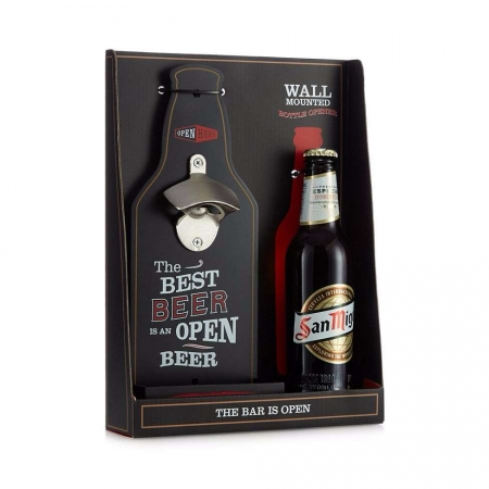 Debenhams Wall Bottle Opener And Beer Set