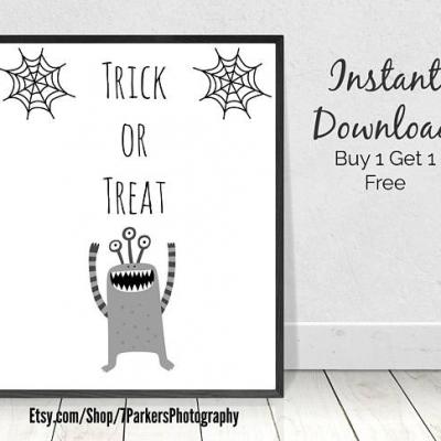 Halloween Decorations Printable Wall Art