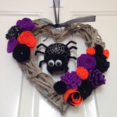 Halloween Floral Wreath