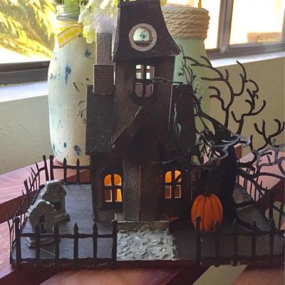 Haunted House Tea Light Halloween Decorations