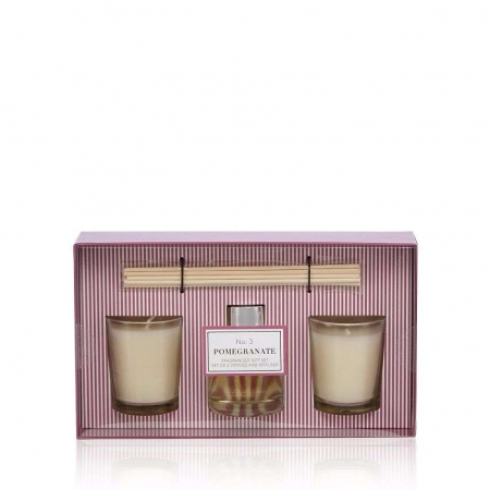 Home Collection Pomegranate Votive Candle And Diffuser Set