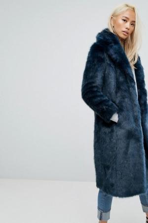 Jakke Maxi Faux Fur Coat