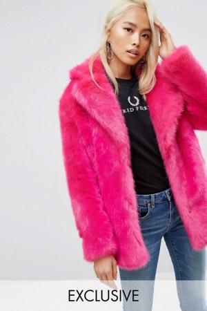 Jakke Mid Length Faux Fur Coat