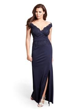 Jessica Wright Shayda Sequin Lace Cap Sleeve Maxi