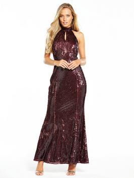 Little Mistress Sequin Maxi Dress