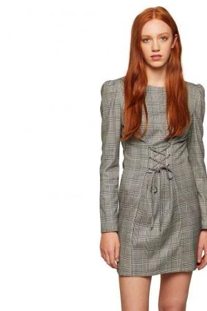 Miss Selfridge Check Corset Dress