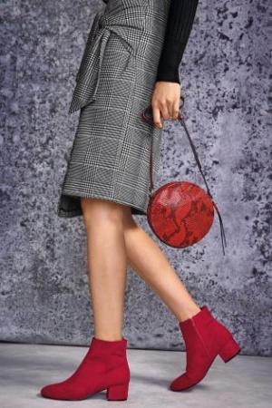 Next Mono Check Tie Skirt