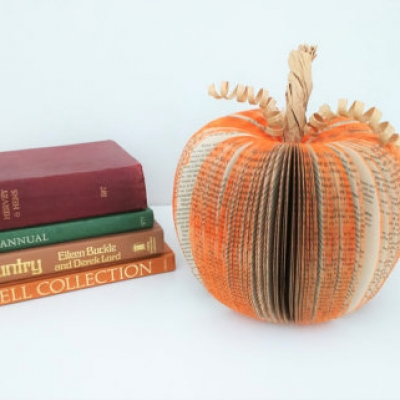 Paper Pumpkin Halloween Decoration