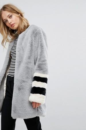 Suncoo Faux Fur Coat
