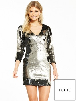 V By Very Petite Sequin Mini Dress