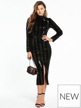 V By Very Stripe Sequin Dress