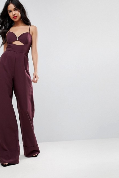 ASOS Jumpsuit With Cut Out And Wide Leg