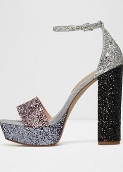 Aldo Aldo Nesida Two Part Glitter Platform Sandal