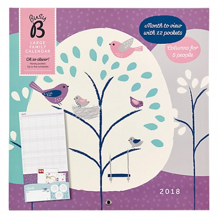 Busy B Large Family 2018 Calendar