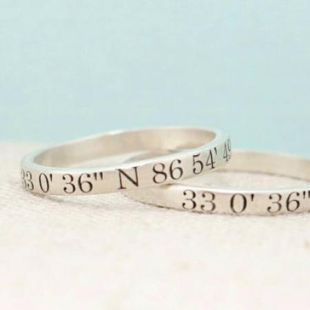 Custom Coordinates Jewelry