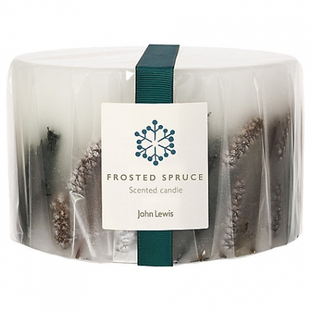 John Lewis Frosted Spruce Inclusion 3 Wick Candle