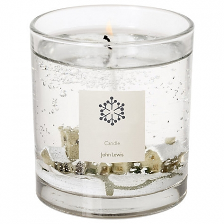 John Lewis Snow Scene Medium Candle