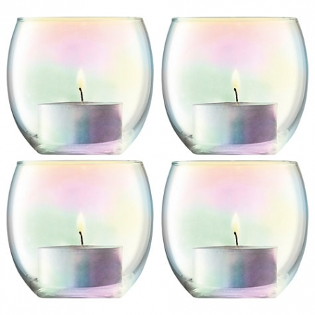 LSA International Pearl Tealight Holder & Candles