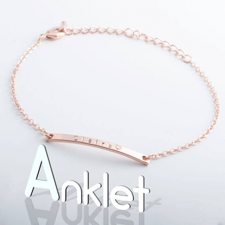 Name Bar Anklet