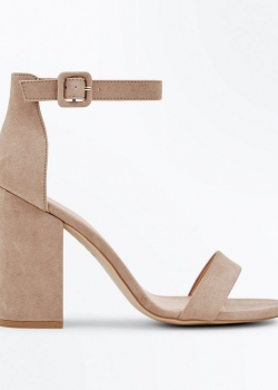 New Look Light Brown Ankle Strap Block Heels