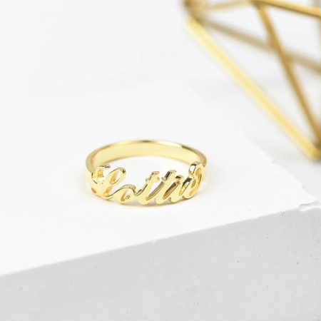 Personalised Name Ring