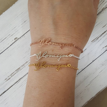 Personalized Actual Handwriting Bracelet