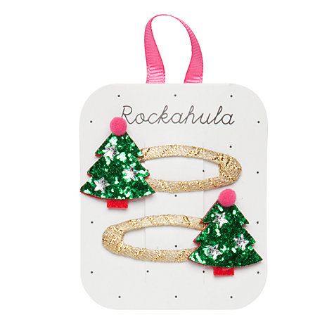 Rockahula Glitter Christmas Tree Hair Clips