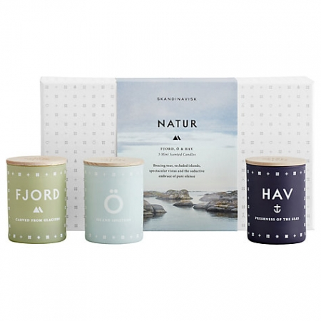 SKANDINAVISK Nature Mini Candle Gift Set
