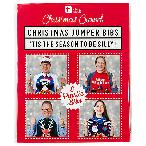 Talking Tables Christmas Jumper Bibs
