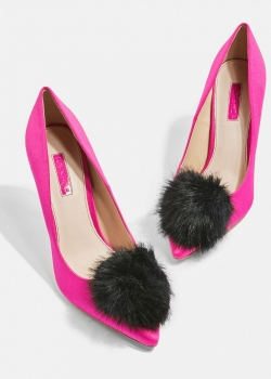 Topshop Gazelle Pom Pom Court Shoes