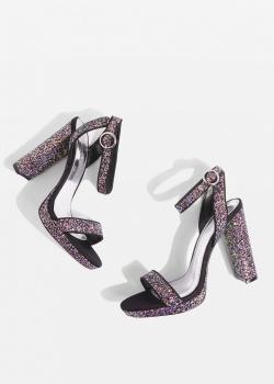 Topshop MARIETTA Glitter Platforms Sandals