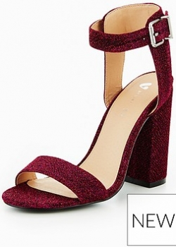 V By Very Dream Satin Block Heeled Sandal