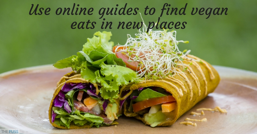 Use online guides to find vegan eats when you travel TheFuss.co.uk