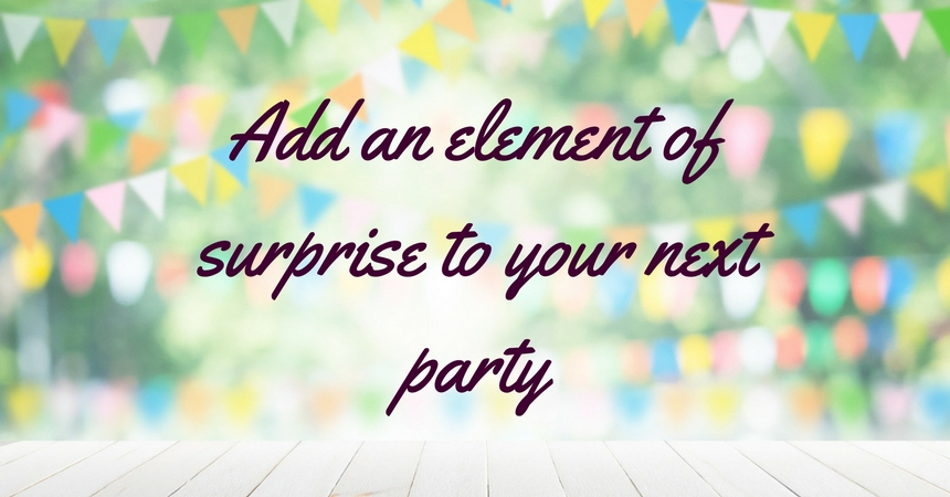 Add an element of surprise to your next party TheFuss.co.uk