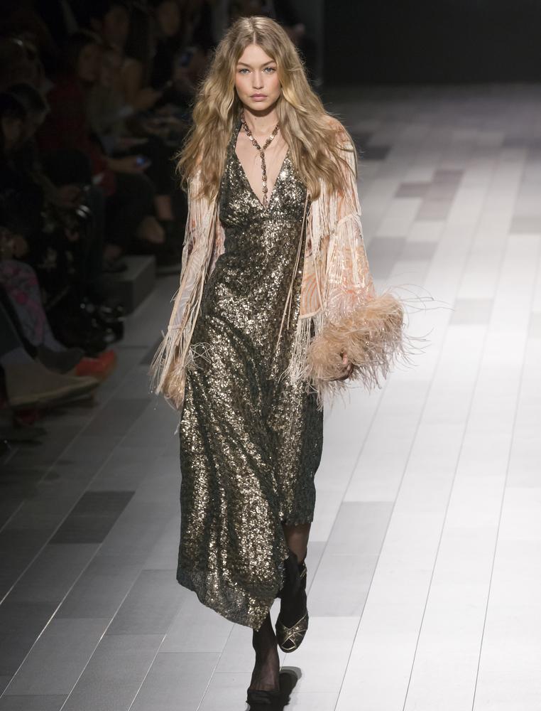 Gigi Hadid walks for Anna Sui SS18 TheFuss.co.uk