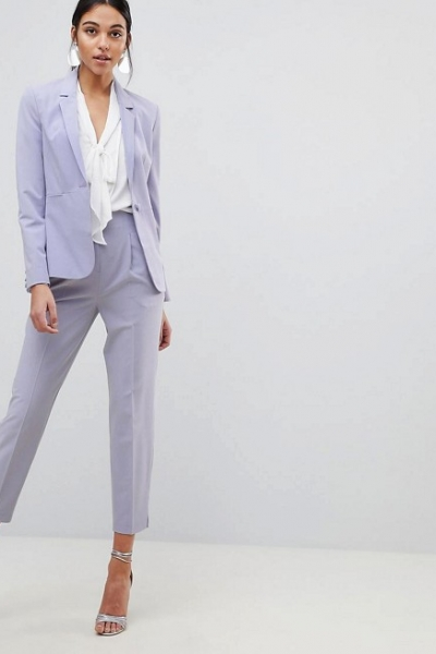 ASOS DESIGN Mix & Match Tailored Suit In Grey Lilac