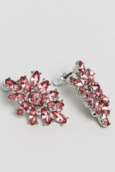ASOS DESIGN Occasion Jewel Cluster Earrings