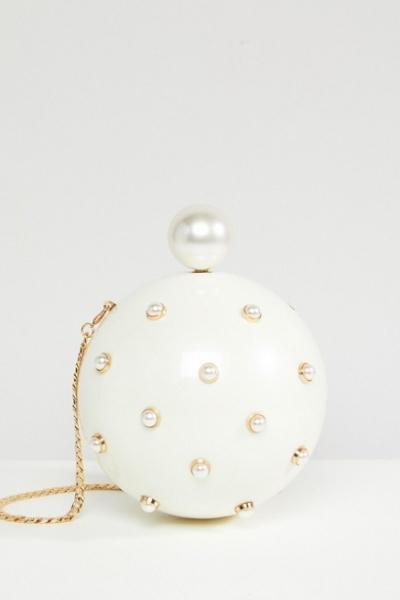 ASOS Pearl Sphere Clutch Bag