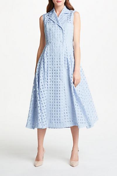 Bruce By Bruce Oldfield Check Sleeveless Dress